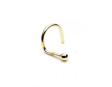 Zlatý piercing Kulička ZPN014, materiál 14-ti karátové žluté zlato, váha: 0.18g