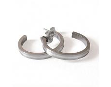 Náušnice z oceli a stříbra 0440