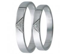 Snubní prsteny kolekce D26, materiál bílé zlato 585/1000, zirkon , váha: u velikosti 54mm - 2.40g