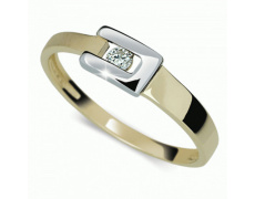 Briliantový prsten Danfil DF2039Z, materiál žluté zlato 585/1000, bílé zlato 585/1000, 1x briliant S