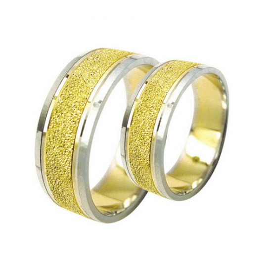 Snubní prsteny Lucie Gold Charlotte S-188, materiál bílé, žluté zlato 585/1000, váha: průměrná 11.00