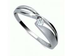 Briliantový prsten Danfil DF1721, materiál bílé zlato 585/1000, 1x briliant SI1/G = 0.061 ct, váha: