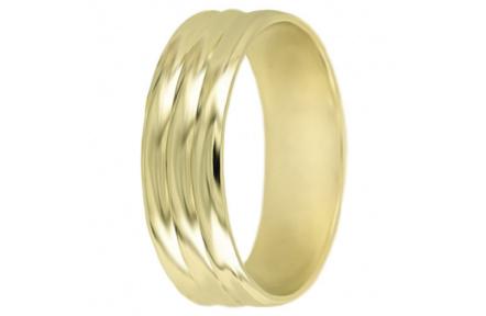 Snubní prsteny kolekce A2, materiál žluté zlato 585/1000 , váha: u velikosti 54mm - 4.50g