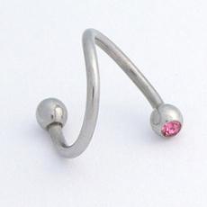 Piercing spirála s kamínkem XSC 3/1 D