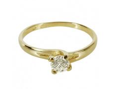 Zlatý Prsten Soliter 224 00090 00, materiál žluté zlato 585/1000, 1x briliant = 0.249 ct, váha: 1.35
