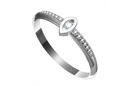 Zásnubní prsten s briliantem Leonka  007, materiál bílé zlato 585/1000, briliant SI1/G - 2.0 mm, váh