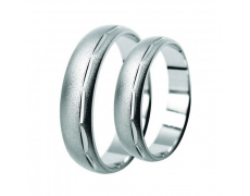 Snubní prsteny Lucie Gold Charlotte S_057, materiál bílé zlato 585/1000, váha: průměrná 7.00g
