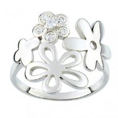 Stříbrný prsten Cacharel CSR077Z, materiál stříbro 925/1000, zirkon, váha: 3.10g
