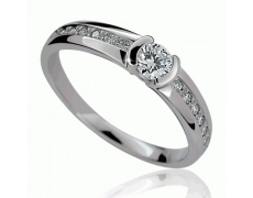 Briliantový prsten Danfil DF2106, materiál bílé zlato 585/1000, 15x briliant SI1/G = 0.291 ct, váha:
