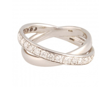 Zlatý Prsten Soliter 224 00368 17, materiál bílé zlato 585/1000, briliant = 0.625 ct, váha: 4.80g