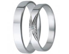 Snubní prsteny kolekce D27, materiál bílé zlato 585/1000, zirkon , váha: u velikosti 54mm - 2.40g
