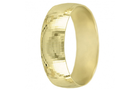 Snubní prsteny kolekce A4, materiál žluté zlato 585/1000 , váha: u velikosti 54mm - 4.50g