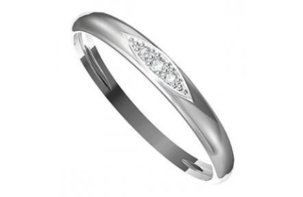 Zásnubní prsten s briliantem Leonka  004, materiál bílé zlato 585/1000, briliant SI1/G - 1.50mm, 1.2
