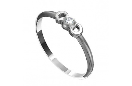 Zásnubní prsten s briliantem Leonka  009, materiál bílé zlato 585/1000, briliant SI1/G - 2.50 mm, vá