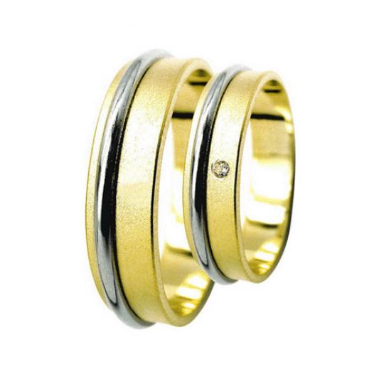 Snubní prsteny Lucie Gold Charlotte S-178, materiál bílé, žluté zlato 585/1000, zirkon, váha: průměr