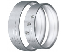 Snubní prsteny kolekce CLAUDIA14, materiál bílé zlato 585/1000, zirkon, váha: u velikosti 54mm - 6.5