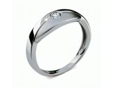 Briliantový prsten Danfil DF1720, materiál bílé zlato 585/1000, 1x briliant SI1/G = 0.112 ct, váha: