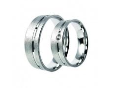 Snubní prsteny Lucie Gold Charlotte S-209, materiál bílé zlato 585/1000, zirkon, váha: průměrná 8.90