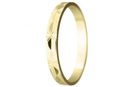 Snubní prsteny kolekce SP2-J, materiál žluté zlato 585/1000 , váha: u velikosti 54mm - 2.00g