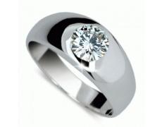 Briliantový prsten Danfil DF1939, materiál bílé zlato 585/1000, 1x briliant = 1.186 ct, váha: 4.70g