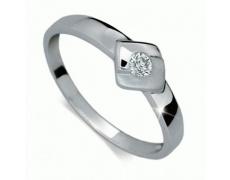 Briliantový prsten Danfil DF1241, materiál bílé zlato 585/1000, 1x briliant SI1/G = 0.072 ct, váha: