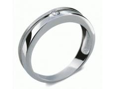 Briliantový prsten Danfil DF1710, materiál bílé zlato 585/1000, 1x briliant SI1/G = 0.061 ct, váha: