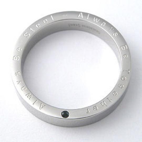 Prsten z chirurgické oceli  RSSC33sapphire