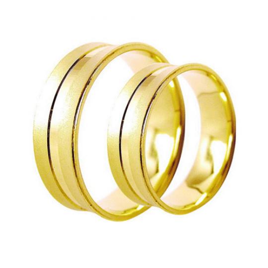 Snubní prsteny Lucie Gold Charlotte S-220, materiál zlaté zlato 585/1000, váha: průměrná 8.50g