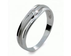 Briliantový prsten Danfil DF1748, materiál bílé zlato 585/1000, 1x briliant SI1/G = 0.035 ct, váha: