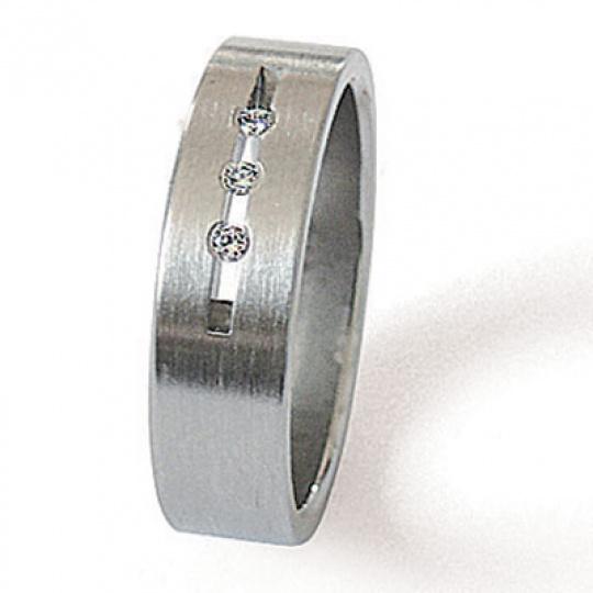 Prsten z chirurgické oceli 06010