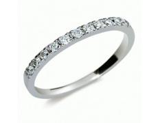 Briliantový prsten Danfil DF1670, materiál bílé zlato 585/1000, 11x briliant SI1/G = 0.192 ct, váha: