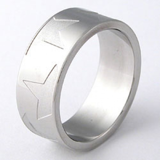 Prsten z chirurgické oceli  RSLW20