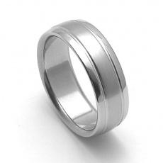 Ocelový snubní prsten RZ17007