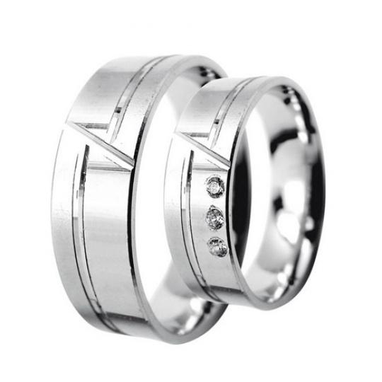 Snubní prsteny Lucie Gold Charlotte S-221, materiál bílé zlato 585/1000, zirkon, váha: průměrná 8.70