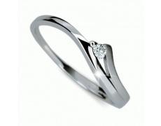 Briliantový prsten Danfil DF1718, materiál bílé zlato 585/1000, 1x briliant SI1/G = 0.061ct, váha: 1