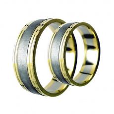 Snubní prsteny Lucie Gold Charlotte S-135, materiál bílé, žluté zlato 585/1000, váha: průměrná 11.00
