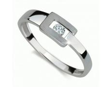 Briliantový prsten Danfil DF2039, materiál bílé zlato 585/1000, 1x briliant SI1/G = 0.080 ct, váha: