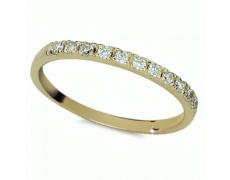 Briliantový prsten Danfil DF1670Z, materiál žluté zlato 585/1000, 11x briliant SI1/G = 0.192 ct, váh