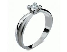 Briliantový prsten Danfil DF1861, materiál bílé zlato 585/1000, 1x briliant SI1/G = 0.200 ct, váha: