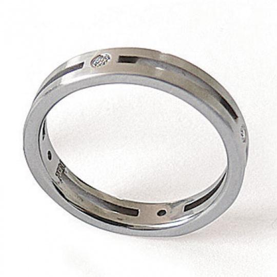 Prsten z chirurgické oceli 04017