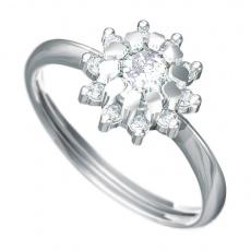 Zásnubní prsten s briliantem Dianka 807, materiál bílé zlato 585/1000, briliant SI1/G 1ks  5.0mm, 10