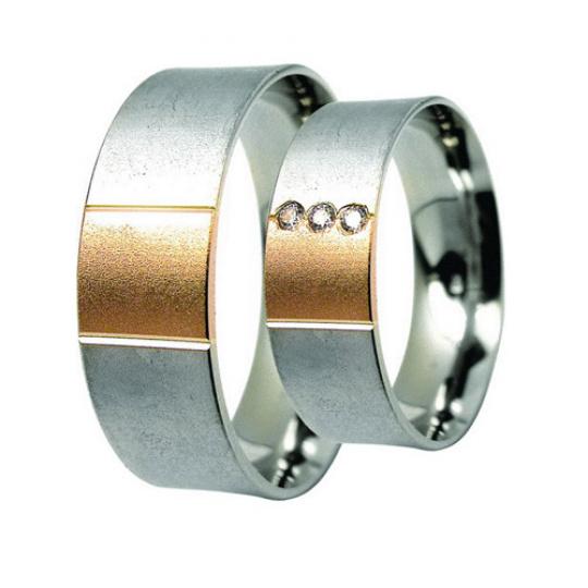 Snubní prsteny Lucie Gold Charlotte S-223, materiál bílé, žluté zlato 585/1000, zirkon, váha: průměr