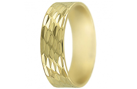 Snubní prsteny kolekce SP6-D, materiál žluté zlato 585/1000 , váha: u velikosti 54mm - 4.50g
