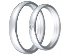 Snubní prsteny kolekce CLAUDIA1, materiál bílé zlato 585/1000, zirkon , váha: u velikosti 54mm - 5.5