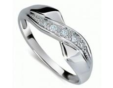 Briliantový prsten Danfil DF1915, materiál bílé zlato 585/1000, 5x briliant SI1/G = 0.072 ct, váha:
