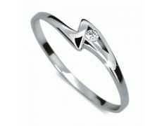 Briliantový prsten Danfil DF1138, materiál bílé zlato 585/1000, 1x briliant SI1/G = 0.026 ct, váha: