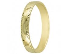Snubní prsteny kolekce A25, materiál žluté zlato 585/1000 , váha: u velikosti 54mm - 2.40g
