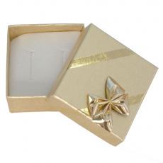 Dárková krabička na náušnice Gold