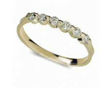 Briliantový prsten Danfil DF1951Z, materiál žluté zlato 585/1000, 6x briliant SI1/G = 0.300 ct, váha