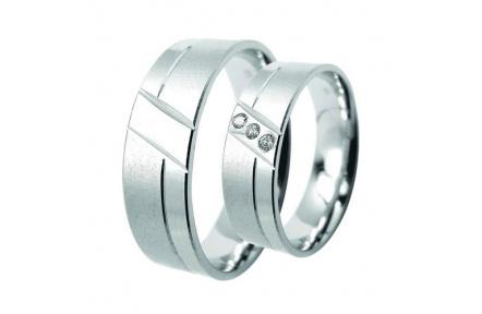 Snubní prsteny Lucie Gold  Charlotte S-216, materiál bílé zlato 585/1000, zirkon, váha: průměrná 8.7